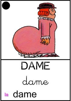 La dame French Education, Language, Classroom, Teaching, Math, Kids, Preschool, Educational Activities, Lyrics