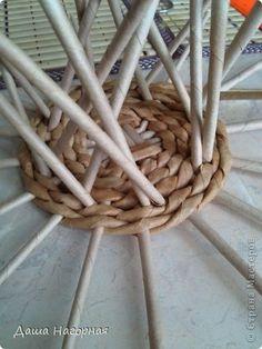 Мастер-класс Поделка изделие Плетение МК чашки Бумага газетная Трубочки бумажные фото 11