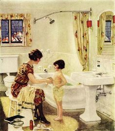 standard plumbing fixtures 1926.  The toilet is just like the American Standard in our house.