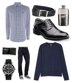 """""""Dads favorites #2"""" by akmo on Polyvore featuring Polo Ralph Lauren, Lucky Brand, Florsheim, Breitling, Gucci, Prada, men's fashion and menswear"""