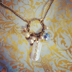 dwallacedesigns • Vintage charm necklace