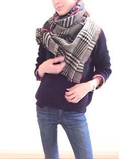 ストールの巻き方 Tying scarf
