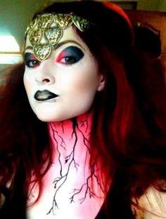 """Makeup entry """"belladonna look"""" by Kirsty MacDonald Makeup Alien Makeup, Fx Makeup, Hair Makeup, Comic Con Costumes, Photo Awards, Beauty Awards, Beauty Photos, Makeup Looks, Halloween Face Makeup"""