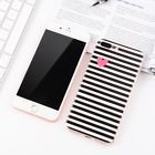 For iPhone 4/4s Ultrathin Soft Silicone TPU Phone Case Back Cover Black Striped