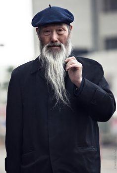 Korean gentleman in a hat.