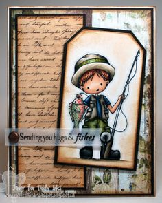 sending hugs  fishes card by Jenny Peterson