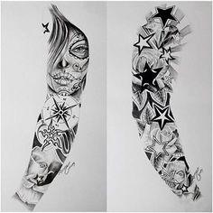tatuajes para todo el brazo completo tribales