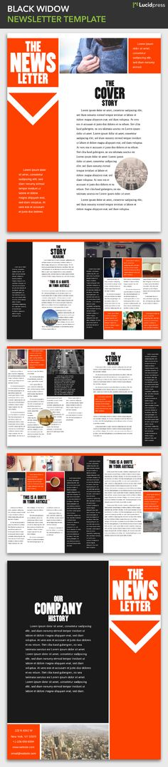 28 best free magazine newsletter templates images on pinterest