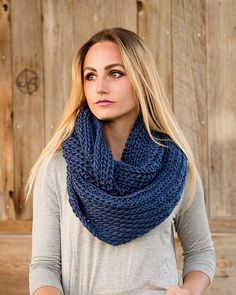 Marsha Wide Knit Infinity Scarf