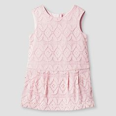 Baby Girls' Pink Lace Dress 1