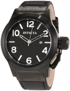 Invicta Men's 1138 Corduba Black Dial Black Leather Watch ** Wow! I love this. Check it out now!