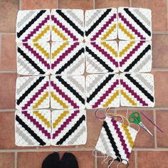 I absolutely love how this one is turning out by episciotta Grannies Crochet, C2c Crochet Blanket, Crochet Afgans, Crochet Motifs, Crochet Quilt, Crochet Chart, Crochet Squares, Crochet Blanket Patterns, Crochet Stitches