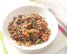 Pohánka so zeleninou Fried Rice, Fries, Ethnic Recipes, Food, Essen, Meals, Nasi Goreng, Yemek, Stir Fry Rice