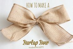 Looking to decorate your house with burlap bows this holiday?  We're sharing a simple tutorial on how to make a burlap bow.