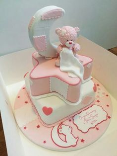 Baby Shower Cake or baby 1st birthday - For all you cake decorating supplies, please visit craftcompany.co.uk