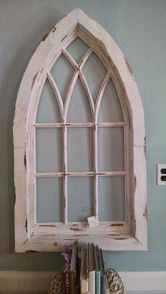 Distressed Arched Window Frame 42 00 Via Etsy Add A