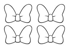 Resultado de imagen para moldes del moño de minnie mouse
