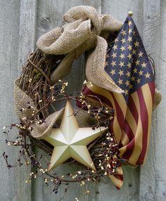 Patriotic Wreath Idea