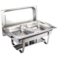 Chafing Dish Rack Alluring F2C 6 Pack Of 8 Quart Stainless Steel Chafingdish Rectangular Design Inspiration