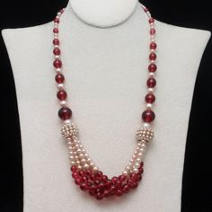 Glass Pearl Vintage Necklace   eBay