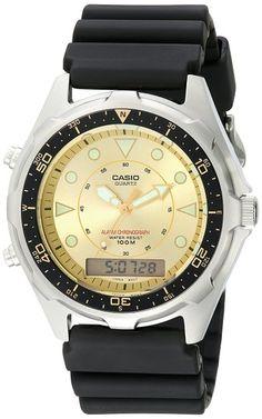 Casio Caballero AMW320D-9EV Ana-Digi Alarm cron-grafo Dive Reloj