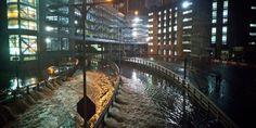 A New York, l'eau s'engouffre dans le tunnel Carey, près du Battery Park, à la suite du passage de l'ouragan Sandy. | AFP/Andrew Burton 29 octobre 2012