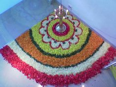 Original Flowers Rangoli Flower Rangoli | by
