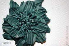 Мастер-класс Украшение Моделирование конструирование МК Брошь-цветок из кожи Кожа фото 1