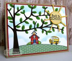 Back to School Card by Kerri Michaud #Cardmaking, #CuttingPlates, #TeacherAppreciation, #BacktoScool