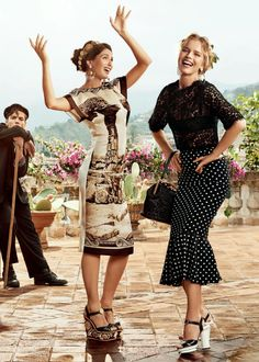 Bianca Balti & Eva Herzigova for Dolce & Gabbana Spring/Summer 2014 Advertising Campaign.