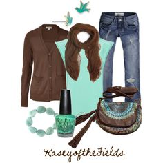 """""""Sky and Earth"""" by kaseyofthefields on Polyvore"""