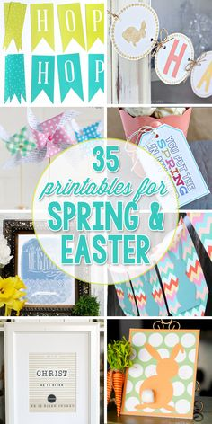 35 FREE Printables for Easter and Spring.