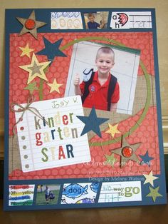 kid scrapbook pages | ... on one of my Scrapbook Layouts for the 2010 Artisan Award contest
