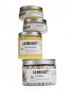 Cie Luxe is excited to introduce... L:A BRUKET From Varberg, Sweden, this handsome line of soaps, skin care oils, body scrubs, bath salts and candles are crafted with the best vegetable and essential certified organic oils. This is where rough and rustic meets romantic while energizing, moisturising, softening, scrubbing and healing you mmmmmm good!