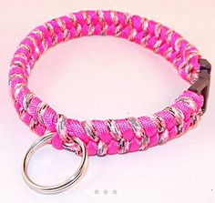Hey, I found this really awesome Etsy listing at https://www.etsy.com/listing/269807405/pink-dog-collar-paracord-collar-rope-dog