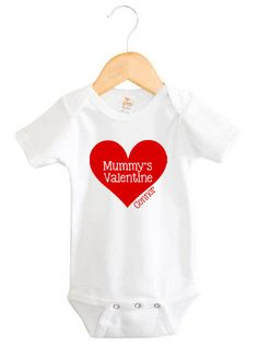 Personalised Mummy's Valentine Onesie | Baby Name Products | Word On Baby