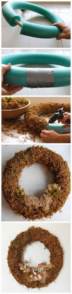 http://www.pinterest.com/jjsjazz/wreaths/Dollar Store Spring Wreath There's a Fungus Amungus