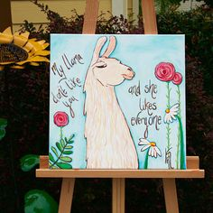 My llama don't like you and she likes everyone. Original