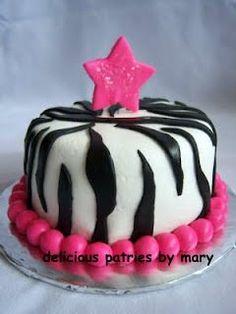 small zebra cake