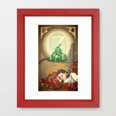 Dorothy and OZ ( art nouveau style ) Framed Art Print