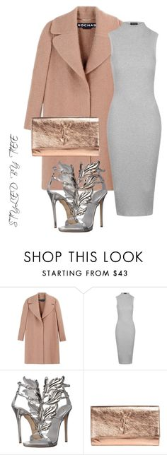 """Untitled #88"" by toniannfratianni on Polyvore featuring Rochas, Topshop, Giuseppe Zanotti, Yves Saint Laurent, women's clothing, women, female, woman, misses and juniors"