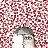 Grumpy Cat Valentine's Day.omgosh Grumpy Cat is my spirit animal lol Grumpy Cat Valentines, Me On Valentines Day, My Funny Valentine, Rosemaries Baby, Baby Cats, Crazy Cat Lady, Cat Art, Cute Cats, Funny Kittens