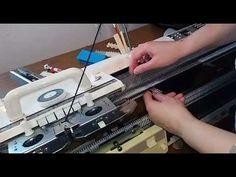 Ажурные носки на вязальной машине BROTHER 965 - YouTube