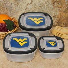 These WVU containers are perfect for those tailgate leftovers.#UltimateTailgate  #Fanatics