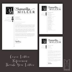 Letter Template Word Classy Resume  Cover Letter  Thank You Letter  Reference Page  Free 2Nd .