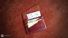 Cartera billetera de cuero personalizada tarjeta monedero