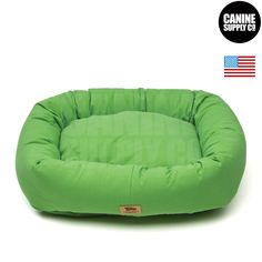 Bumper Bed with Brushed Cotton + Emerald Color Dog Beds - All Sizes