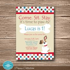 Having a puppy dog theme birthday party? This is the perfect puppy invite to help your little one celebrate their birthday in style!  *** What do I