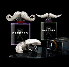 The Barbers Packaging Features Impeccably Sculpted Facial Hair trendhunter.com
