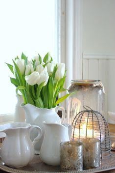 Dale un toque primaveral a la decoracin con tulipanes